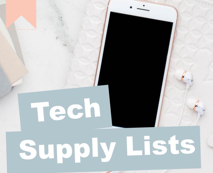 Technology Supply List