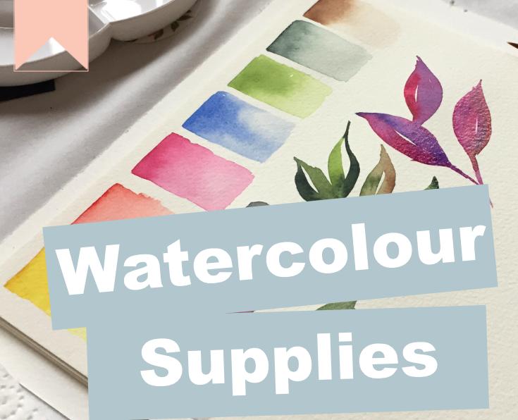 Watercolour Supplies List