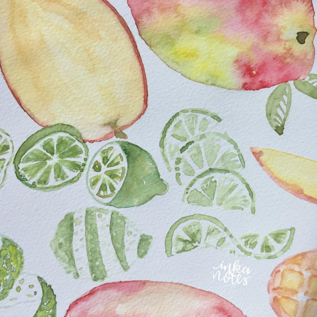 Portfolio Watercolour Fruit  Calligraphy_Supplies_inkanotes_Watercolour_Calligraphy_Artist-Custom_Watercolour_Painting_Monogram_Florals-berries-5