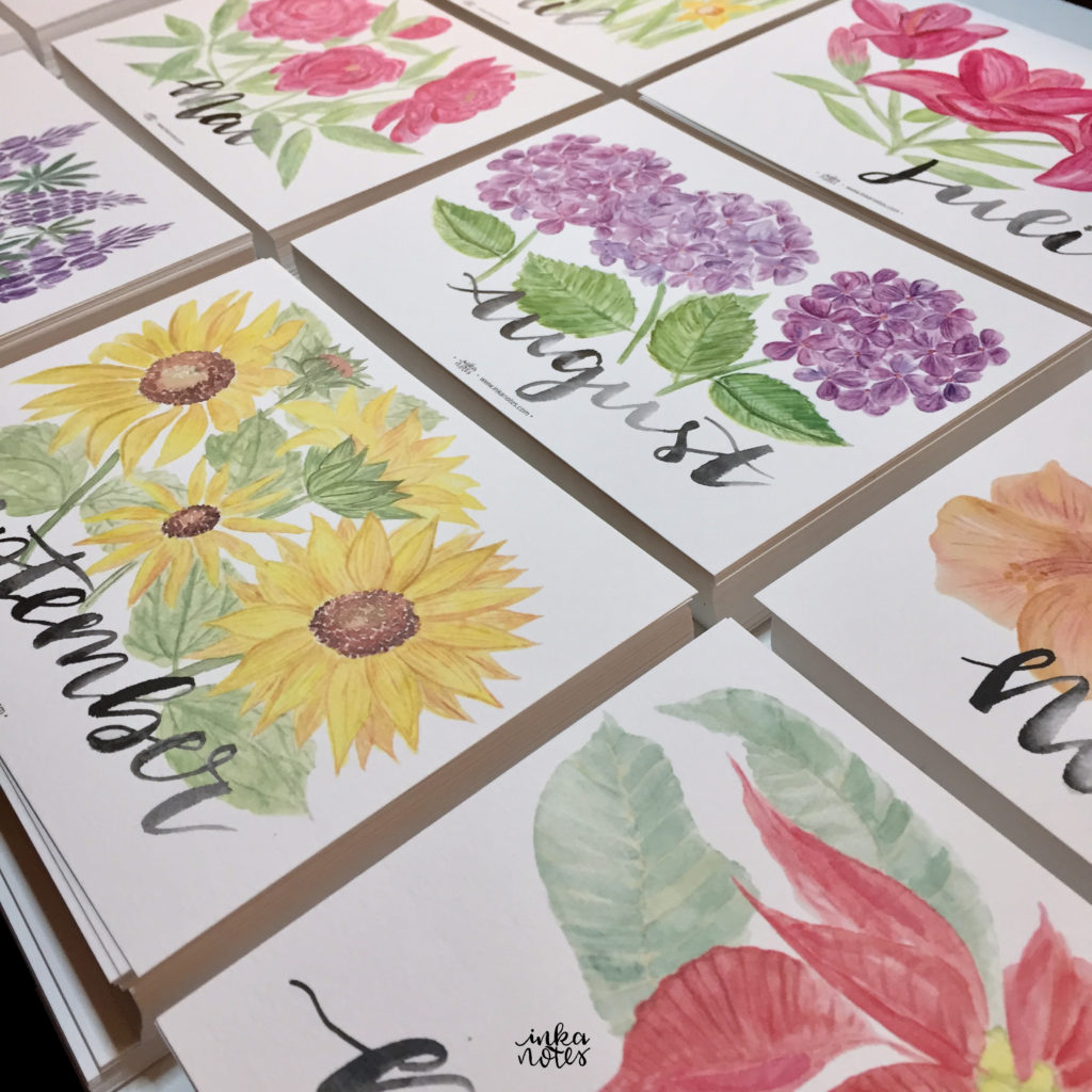 Flower-Calligraphy_Supplies_inkanotes_Watercolour_Calligraphy_Artist-Custom_Watercolour_Painting_Monogram_Florals-Wedding_keepsake_gift_bouquet-cards