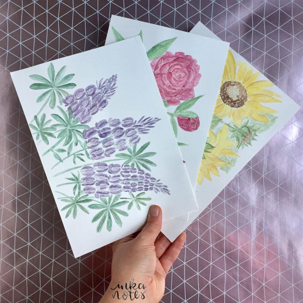 Flower-Calligraphy_Supplies_inkanotes_Watercolour_Calligraphy_Artist-Custom_Watercolour_Painting_Monogram_Florals-Wedding_keepsake_gift_bouquet-flieder