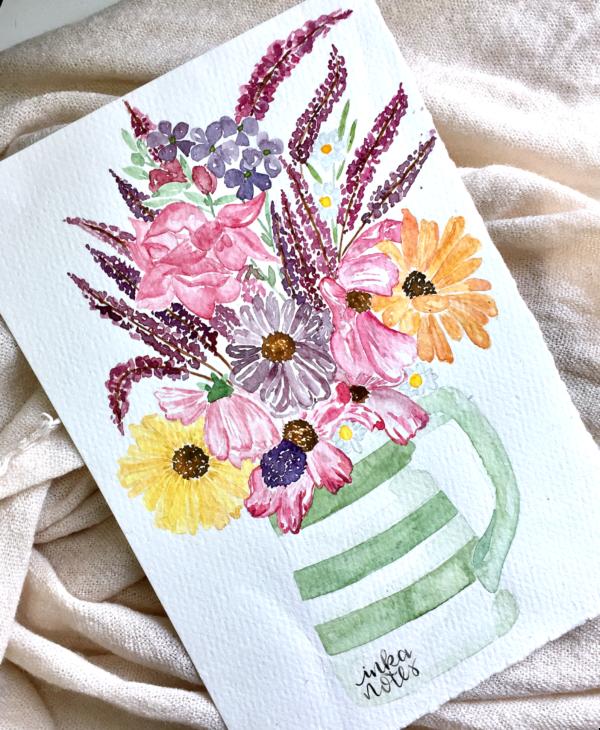 custom-watercolour-bouquet-example-wildflower-in-a-vase-inkanotes-irish-ireland-calligraphy-botanical-watercolour
