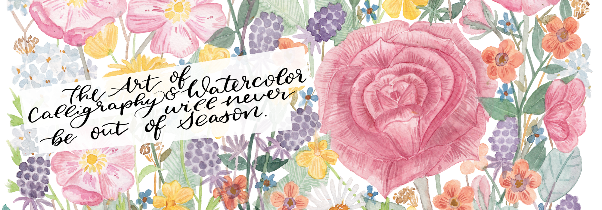 header final inkanotes Calligraphy Watercolor Artist Food Illustrations Botanical and Flowers Ireland Germany