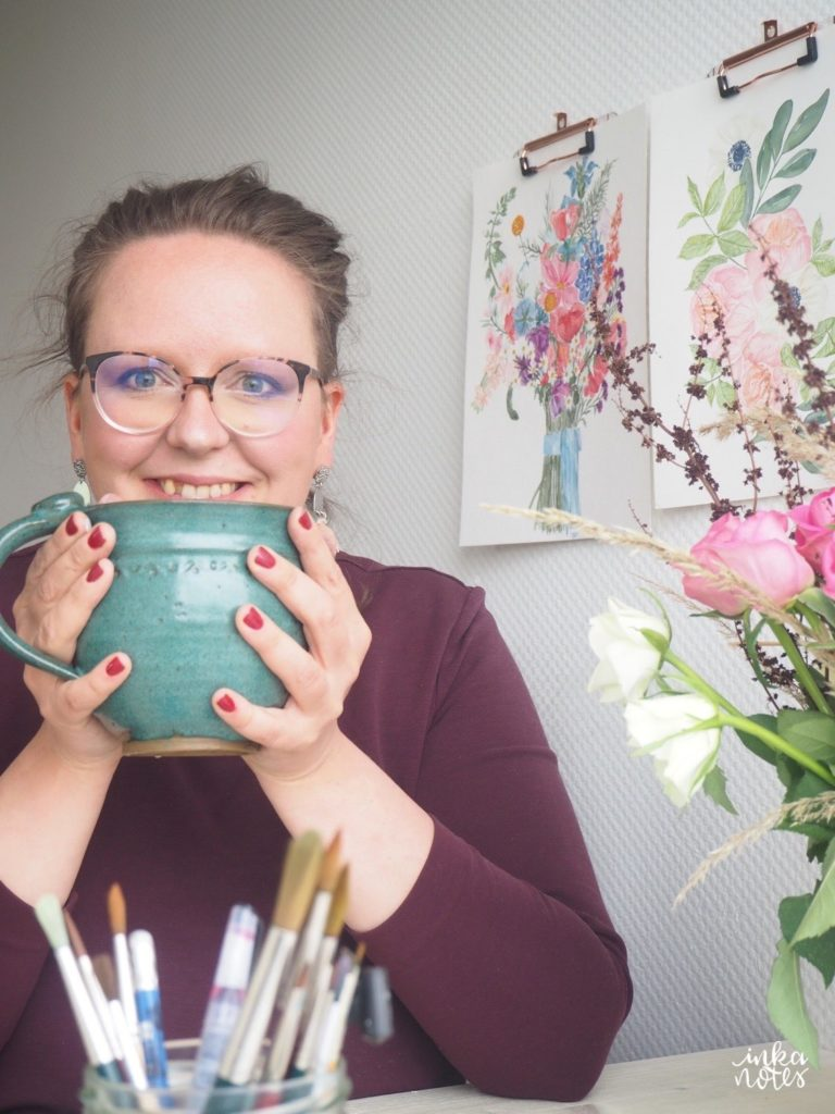 inkanotes Calligraphy Kalligraphie Watercolor Aquarell Florals Botanicals Blumen Botanische Designer Deutschland Germany Nachhaltig Ecofriendly
