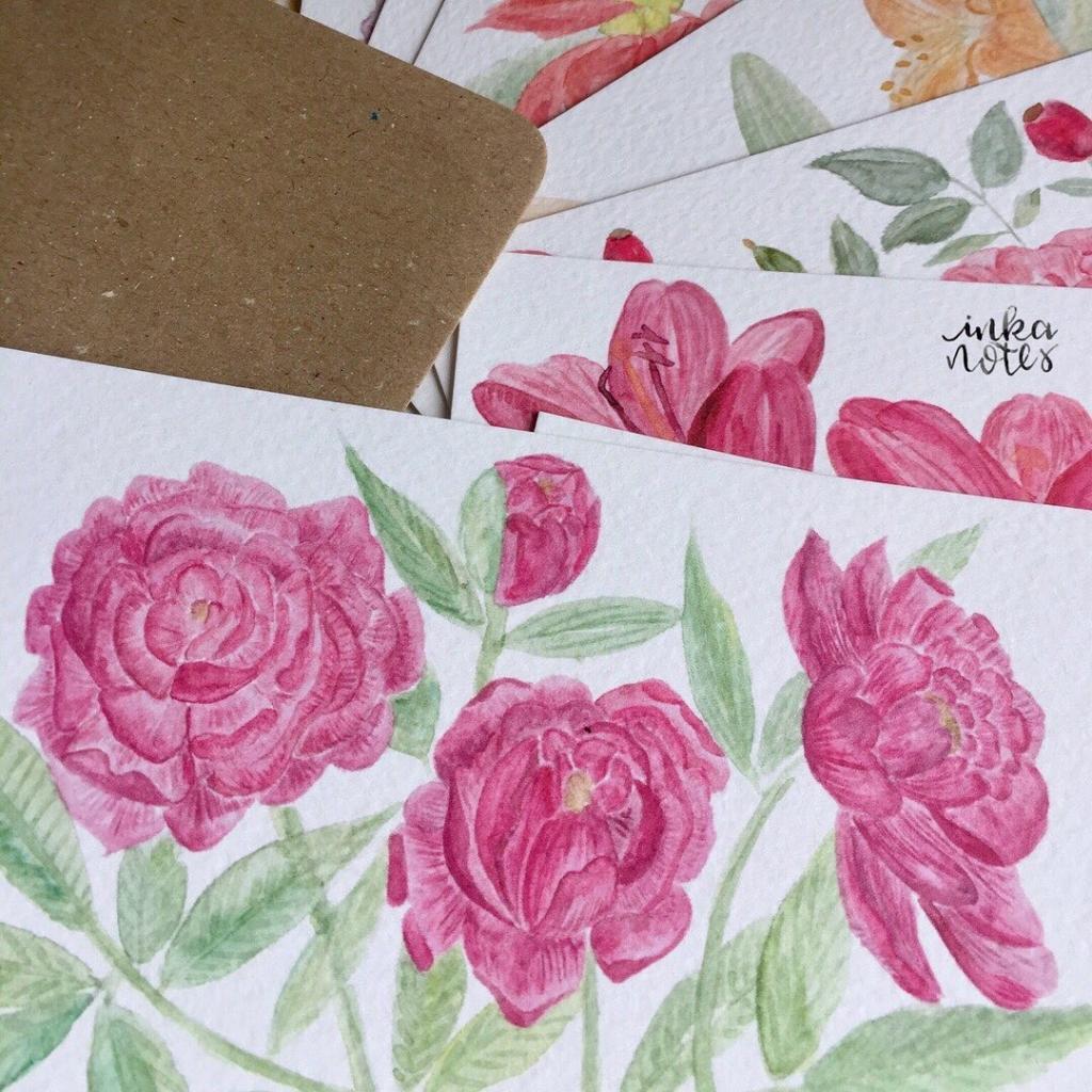 Bundle -Monatskarten- Seasonal Cards - Flower Cards - Blumen Karten-Artist-Illustrator-Illustrator-Designer-Kalligrafie-Calligraphy-Aquarell-Watercolour-Artist-inkanotes 03