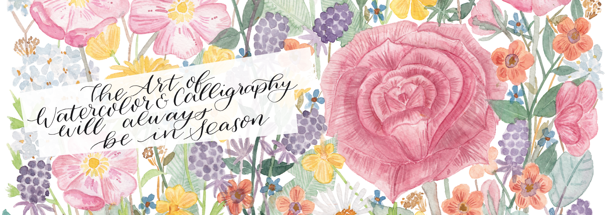 personalisierte brautstrauss illustrationen header Add - besuche den shop - inkanotes Calligraphy Kalligraphie Watercolor Aquarell Florals Botanicals Blumen Botanische Designer Deutschland Germany Nachhaltig Ecofriendly