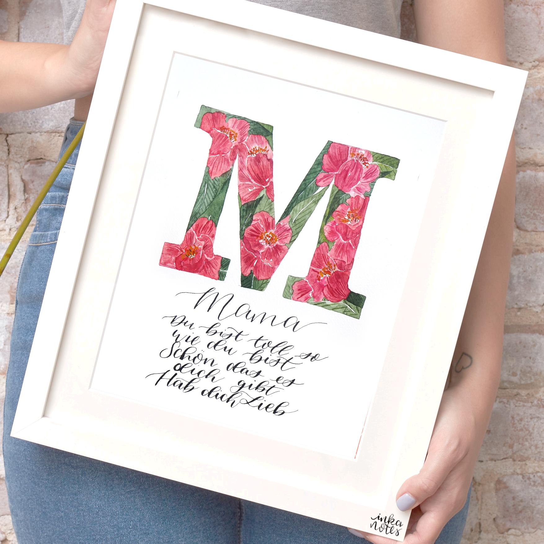 Calligraphy-Kalligraphie-Watercolor-Aquarell-Florals-Botanicals-Blumen-Botanische-Designer-Deutschland-Germany-Nachhaltig-monogram-buchstaben-m