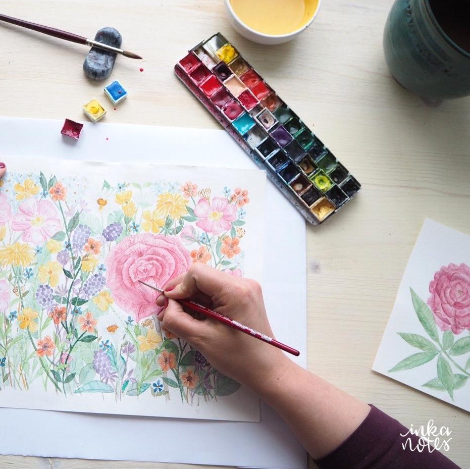 verlauf - inkanotes Calligraphy Kalligraphie Watercolor Aquarell Florals Botanicals Blumen Botanische Designer Deutschland Germany Nachhaltig Ecofriendly_08