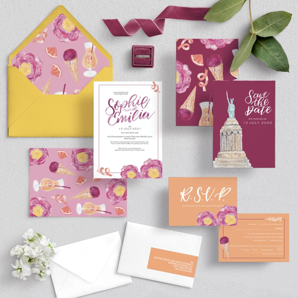 Sorbet_Wedding_Invitation_Papeterie_Inkanotes_Kalligraphie_Aquarell-Hochzeitseinladungen