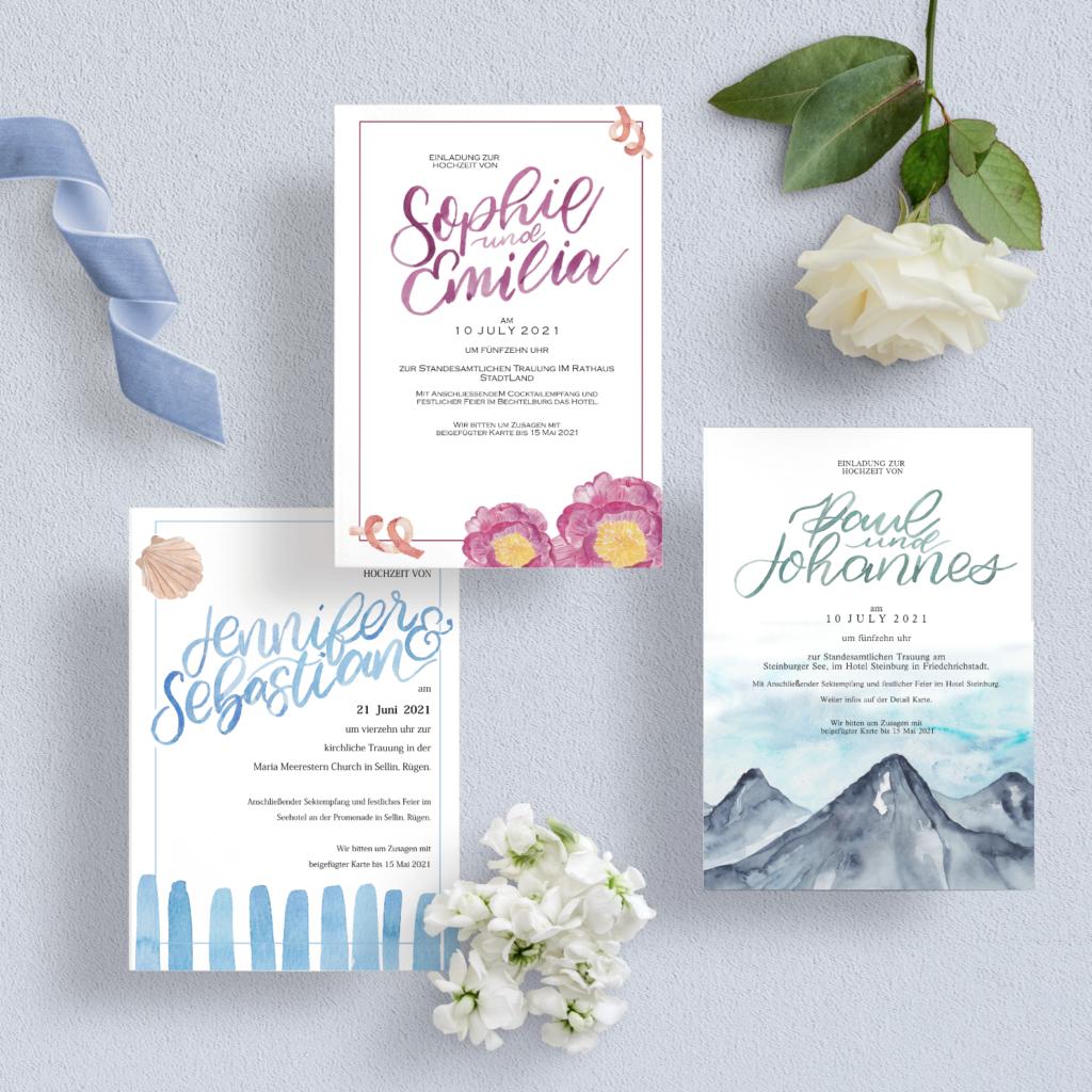 bold namen aquarell - Hochzeits Papeterie Hochzeits Einladung Wedding Invitation Papeterie Inkanotes Kalligraphie Aquarell